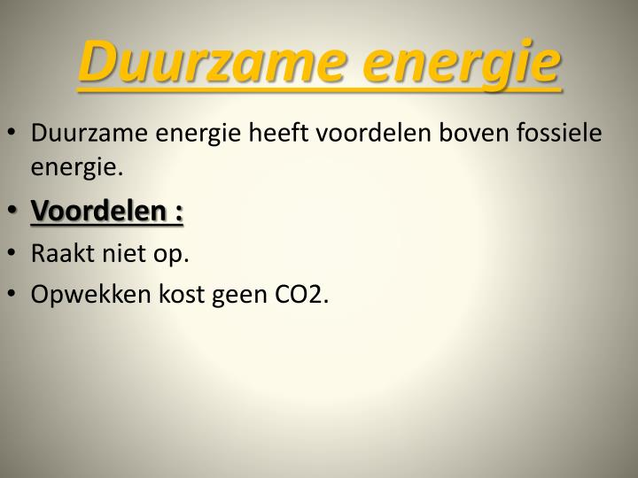 Duurzame