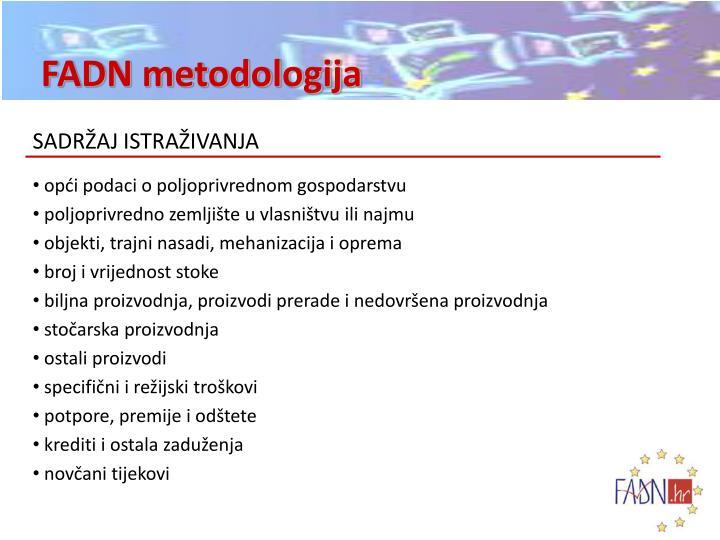 FADN metodologija