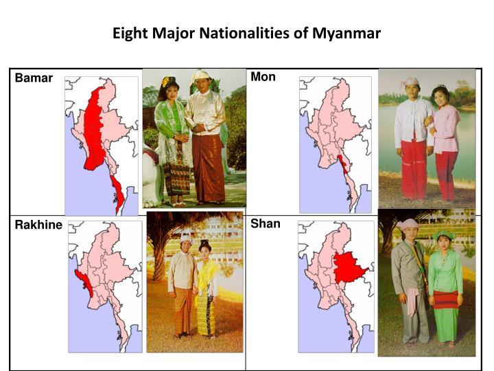 Eight Major Nationalities of Myanmar