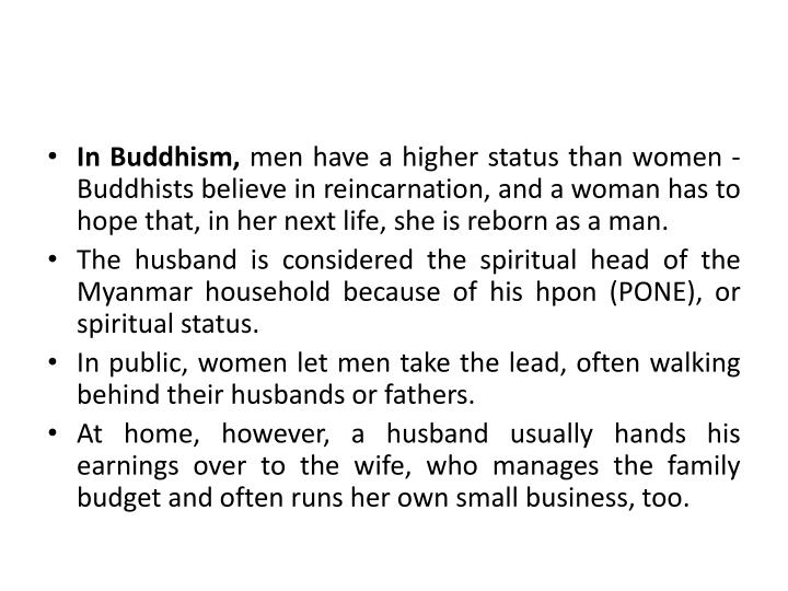 In Buddhism,