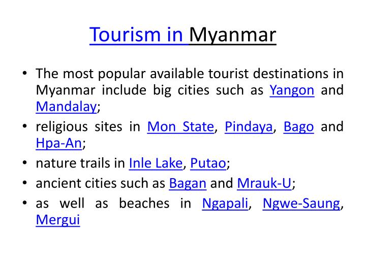 Tourism in