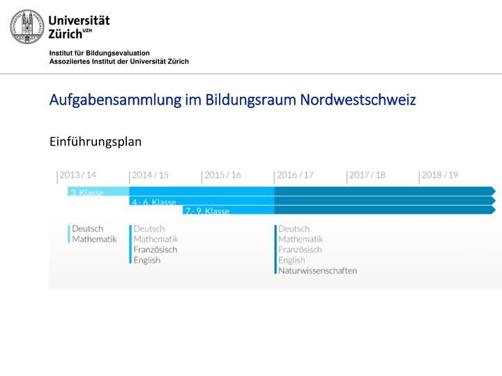 Aufgabensammlung im Bildungsraum Nordwestschweiz