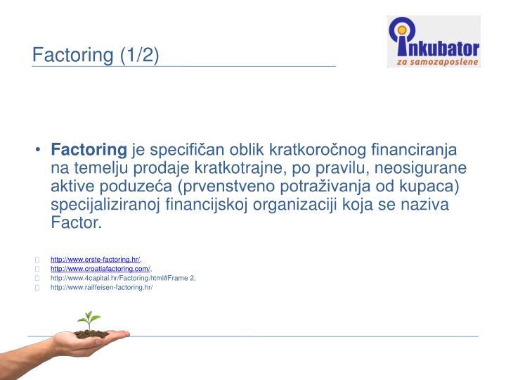 Factoring (1/2)