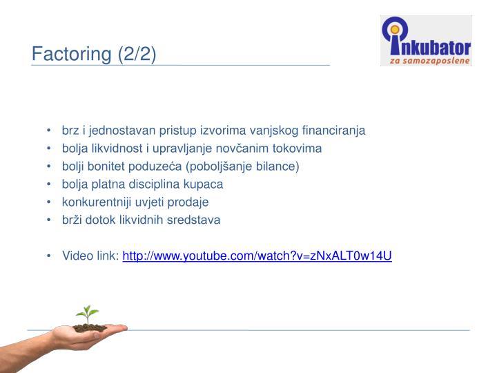 brz i jednostavan pristup izvorima vanjskog financiranja