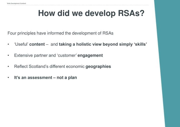 How did we develop RSAs?