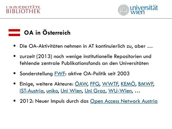 OA in Österreich