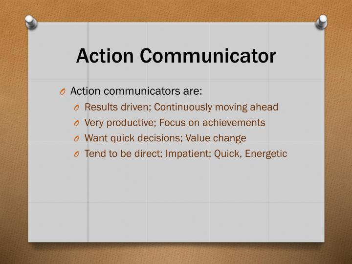 Action Communicator