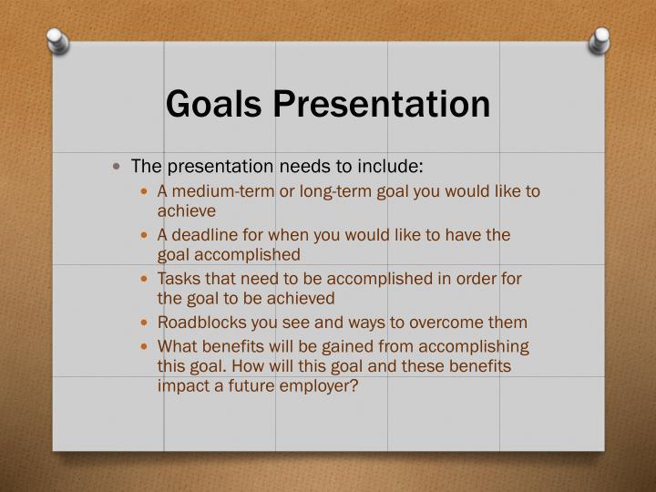 Goals Presentation