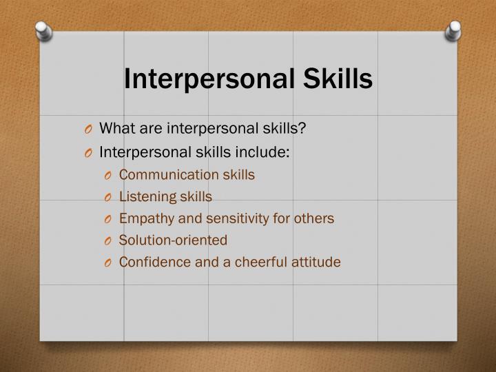 Interpersonal Skills