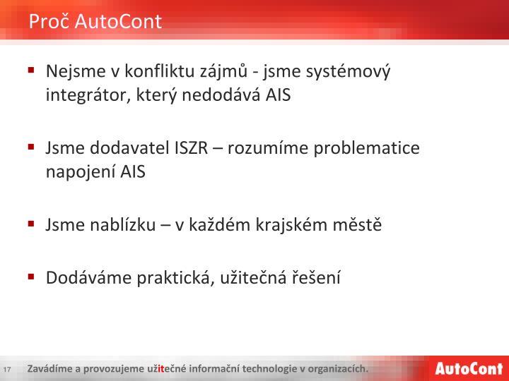 Proč AutoCont