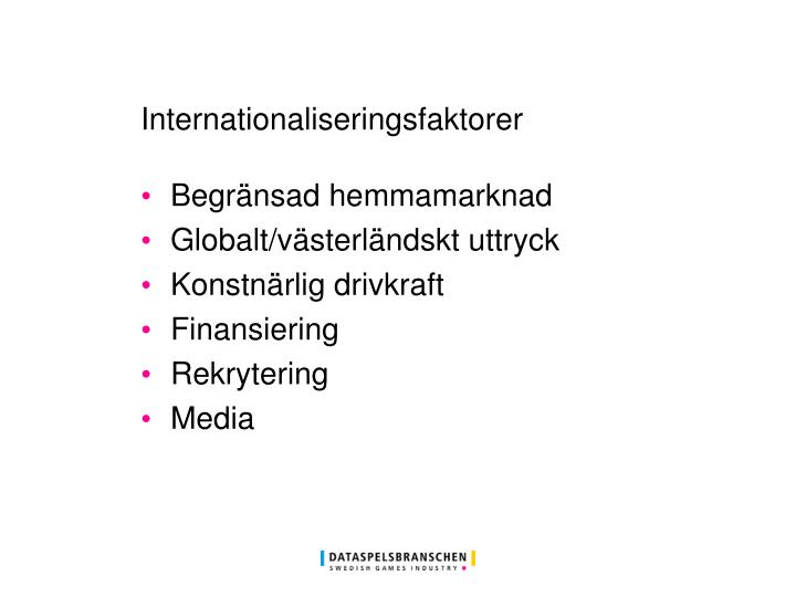 Internationaliseringsfaktorer