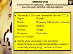 open innovation combining external technologies and ideas with internal r d capabilities