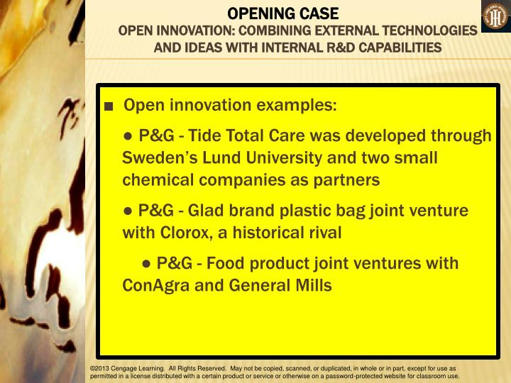OPEN INNOVATION: COMBINING EXTERNAL TECHNOLOGIES