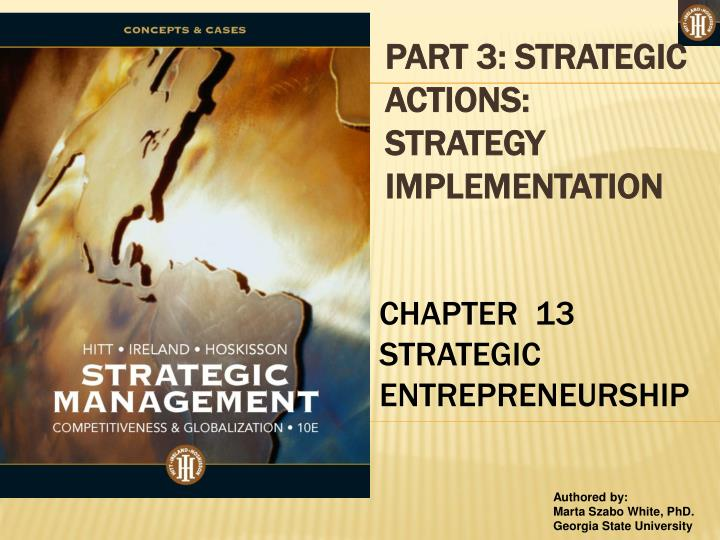 PART 3: STRATEGIC ACTIONS: