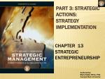 part 3 strategic actions strategy implementation