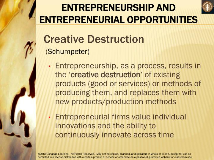 ENTREPRENEURSHIP AND ENTREPRENEURIAL OPPORTUNITIES