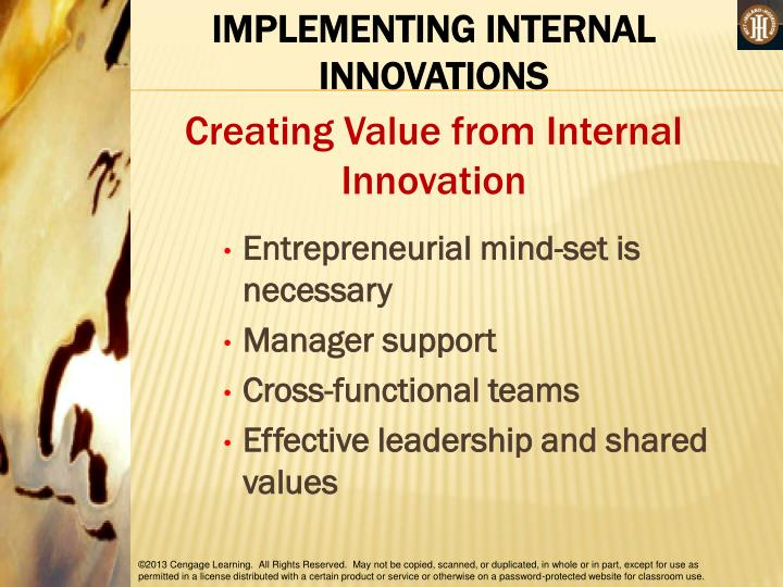 IMPLEMENTING INTERNAL INNOVATIONS