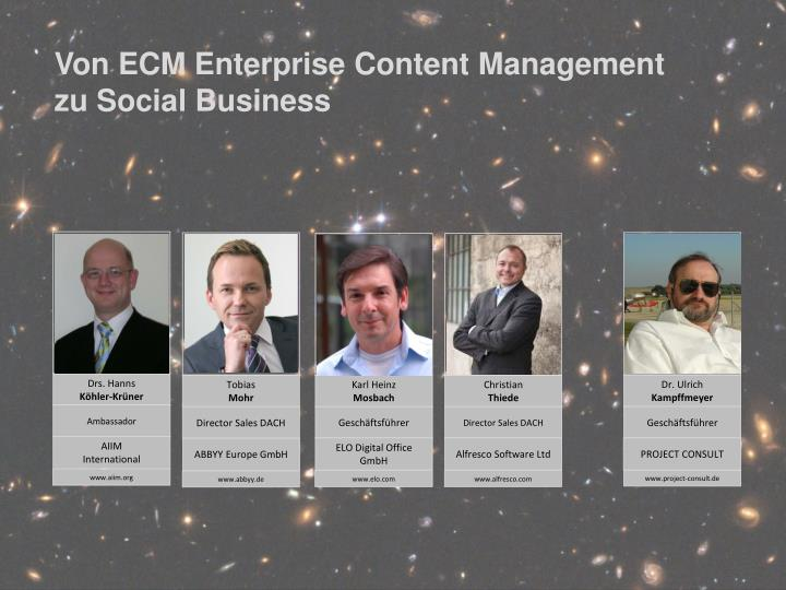 Von ECM Enterprise Content Management