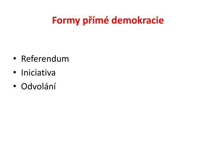 Formy přímé demokracie