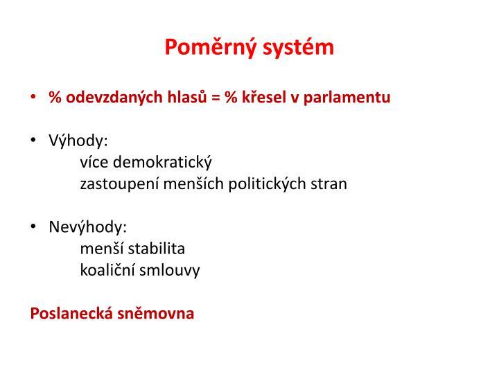 Poměrný systém