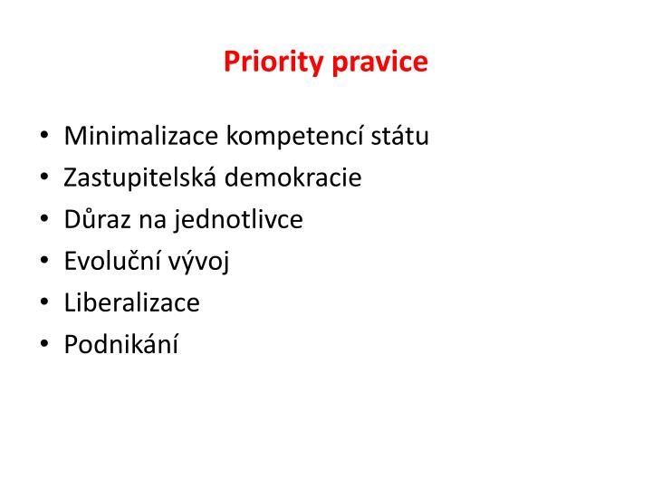 Priority pravice