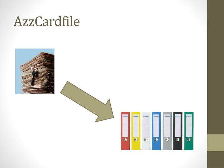 AzzCardfile