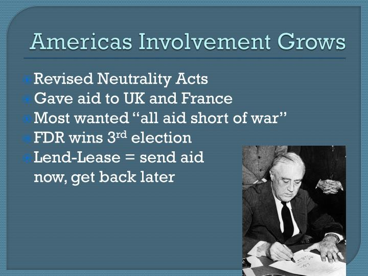 Americas Involvement Grows