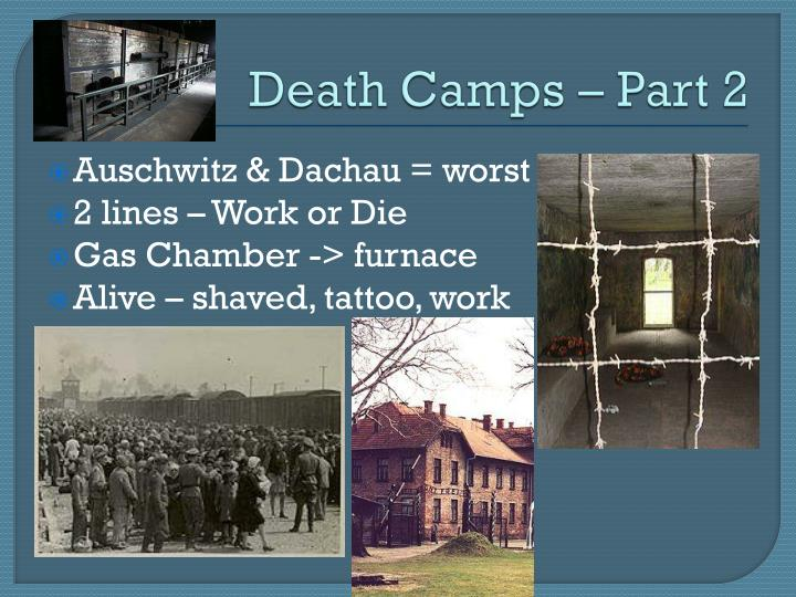 Death Camps – Part 2