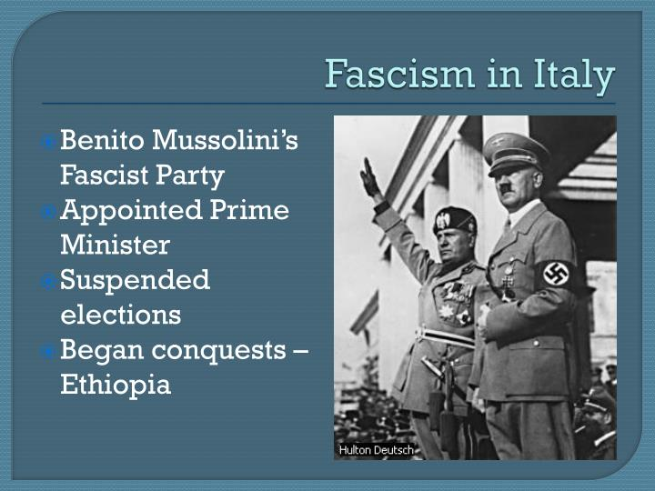 mussolini's and hitler's rise to power Benito mussolini: benito mussolini  rise to power  and under hitler's guidance germany had been the one powerful country in western europe that.