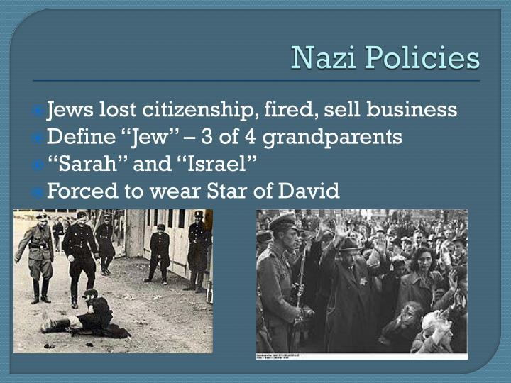 Nazi Policies