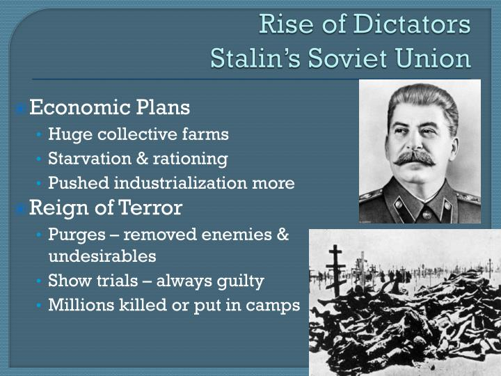 Rise of dictators stalin s soviet union