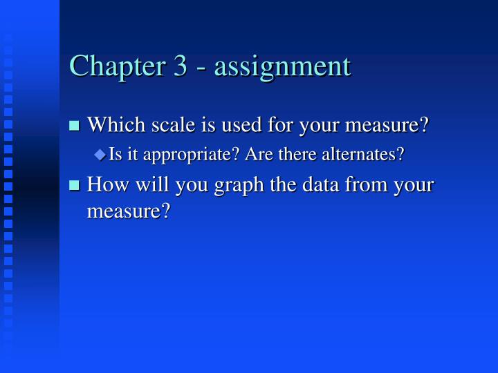 Chapter 3 - assignment