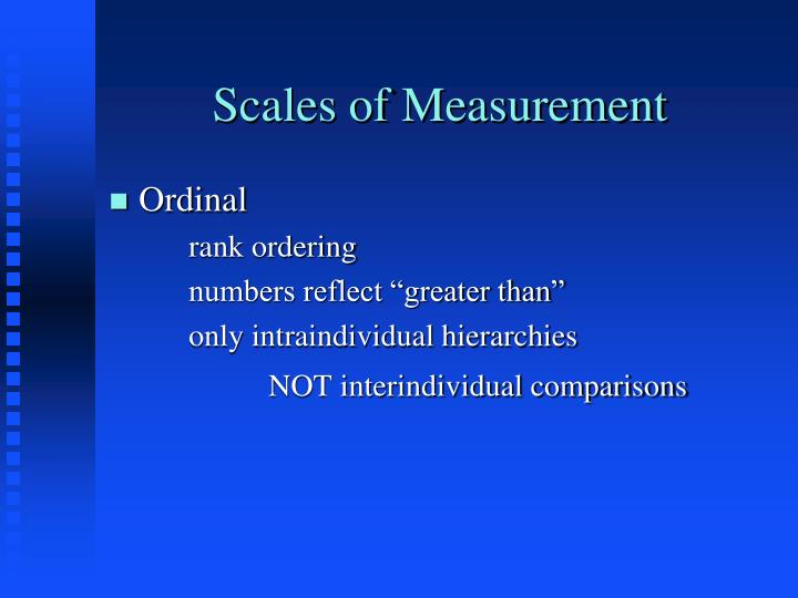 Scales of measurement1
