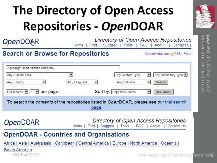 The Directory of Open Access Repositories -