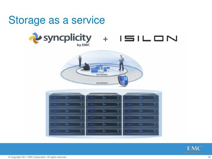 Storage as a service