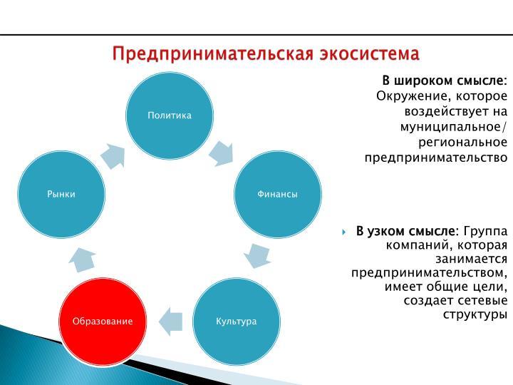 Предпринимательская экосистема