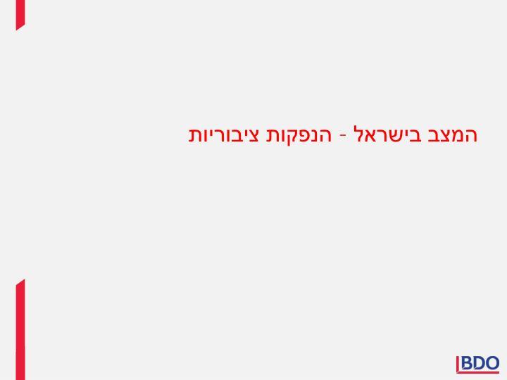 המצב בישראל – הנפקות ציבוריות
