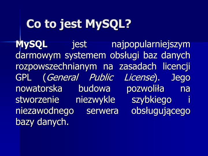 Co to jest MySQL?
