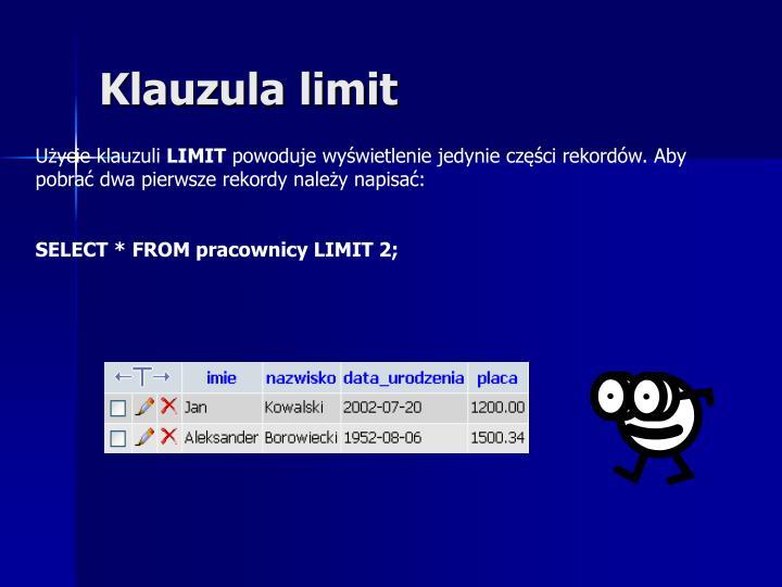 Klauzula limit