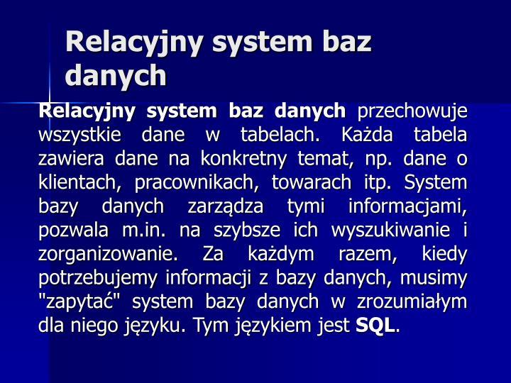 Relacyjny system baz danych