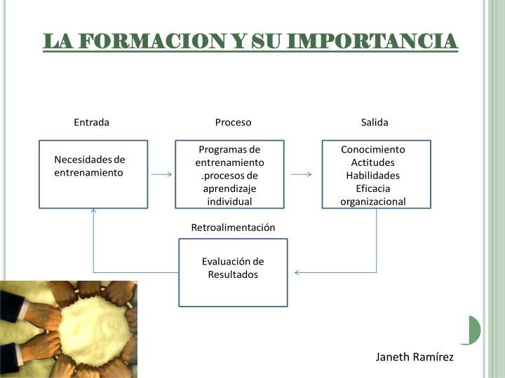 LA FORMACION Y SU IMPORTANCIA