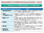 measuring internationalization 2005