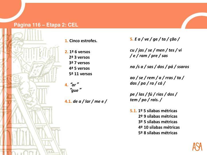 Página 116 – Etapa 2: CEL
