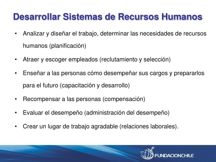 Desarrollar Sistemas de Recursos Humanos