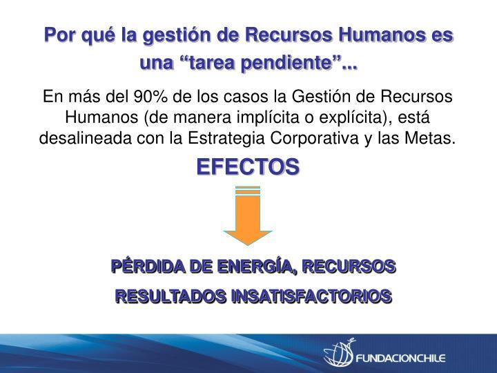 """Por qué la gestión de Recursos Humanos es una """"tarea pendiente""""..."""
