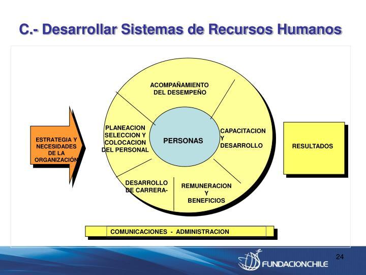 C.- Desarrollar Sistemas de Recursos Humanos