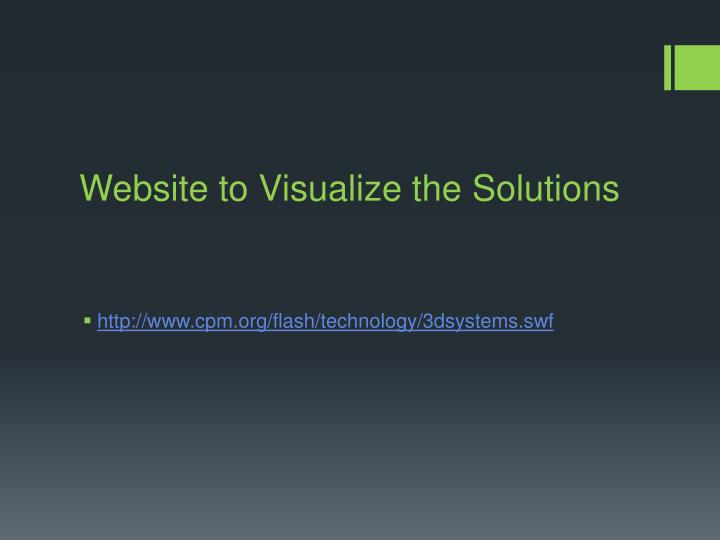 Website to Visualize the Solutions