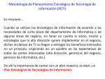 metodolog a de planeamiento estrat gico de tecnolog a de informaci n peti5