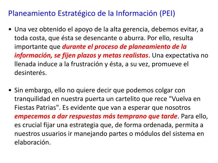 Planeamiento Estratégico de la Información (PEI)