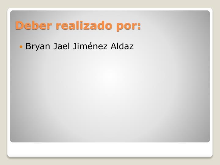 Bryan Jael Jiménez Aldaz